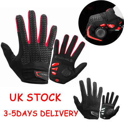 RockBros Autumn Cycling Gloves GEL Pad Full Finger Gloves Mitts UK STOCK New • 12.99£
