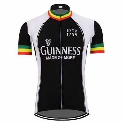 Cycling Short Sleeve Jersey Ireland Guinness Beer Cycling Jersey Vintage • 15.19£