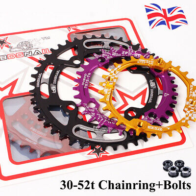 104bcd 30-52T Narrow Wide Chainring MTB Road Bike Crankset Chainwheel Chainset • 17.99£