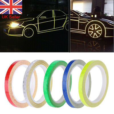 8M Reflective Tape Safety Stickers Hi Vis Safety Warning Self-Adhesive Reflector • 2.35£