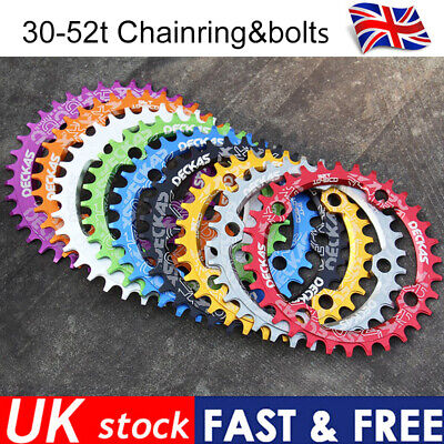 DECKAS 104bcdmm Narrow Wide 30-52t  MTB Bike CNC Chainring Crankset  Sprocket • 18.46£