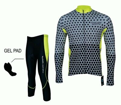 Men's Cycling Jersey And Gel Padded Tights Sets (Size: L) • 34.99£