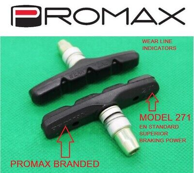 PROMAX 70mm V BRAKE PADS PAIR, MODEL 271EN, ANTI SQUEEL, ALL WEATHER PADS • 5.49£