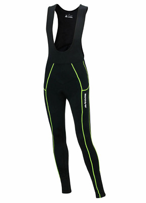 Airtracks Mens Thermal Bib Cycling With Long Pants Black Neon Size S Rrp £40 • 19.99£