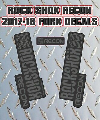 Rockshox Recon 2017-18 Style Fork Sticker Decal Graphics Enduro, DH, Stealth • 6.99£
