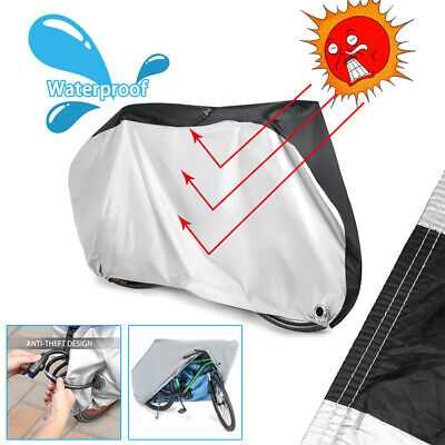 Waterproof Outdoor Heavy Duty Anti UV Rain Dust Bicycle Mountain Bike Cover +Bag • 13.99£