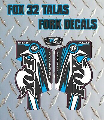 Fox 32 Talas Blue FORK Stickers Decals Graphics Mountain Bike Down Hill MTB 2014 • 6.99£