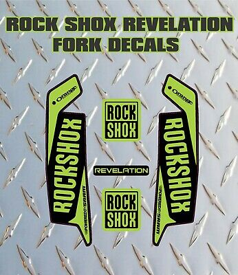 ROCK SHOX Revelation FORK Stickers Decals Mountain Bike Down Hill MTB Green • 6.99£