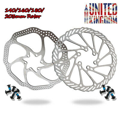 ZOOM 140/160/180/203mm MTB Bike Disc Brake 6 Bolts Rotor Fit SRAM/SHIMANO/Avid • 12.99£