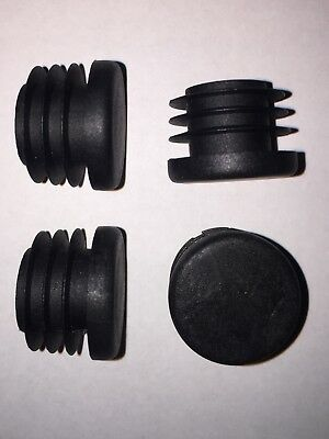 4x Handlebar End Caps - Tough Plastic Barend Plugs For Bike / Scooter Grips • 2.09£