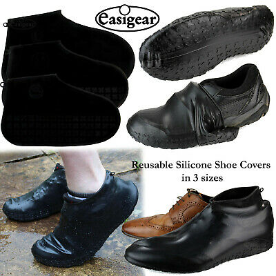 Shoe Covers Reusable Silicone Overshoes Waterproof Boot Protector Kids Adult • 3.99£