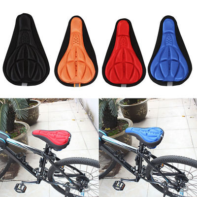 Bicycle MTB Bike Soft Comfortable Gel Saddle Cycling Seat Cover GYM Soft Cusion • 6.39£