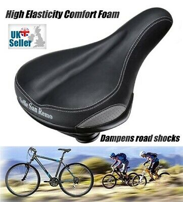 Comfort Wide Bicycle Saddle Bike Soft Seat Selle  • 18.99£