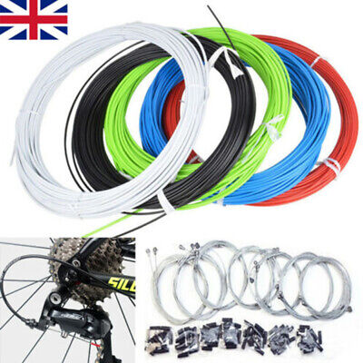 MTB Mountain Bike Bicycle Front & Rear Inner Outer Wire Gear Brake Cable Set UK • 6.26£