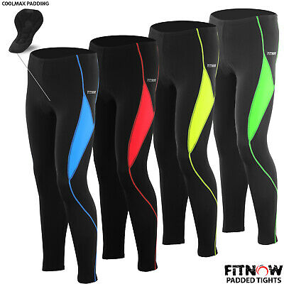 Mens Cycling Tights Trousers Padded Bicycle Pant Leggings ANTI-BAC Pad M To XL • 14.99£
