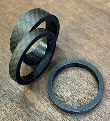 Carbon Bike Bicycle Headset Spacers X3 Only 11g 1 1/8th • 5.99£