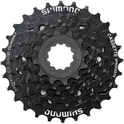 7 Speed Cassette Shimano HG200 All Sizes Bicycle Rear Gears Sprocket Cogs • 17.99£