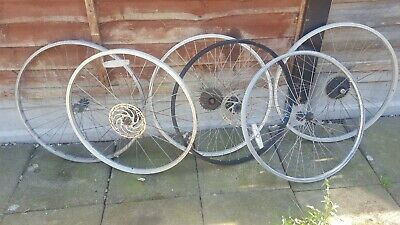 Bicycle Wheels For 26  Mountain Bikes Parcel Of 4 3 Front,1 Rear 6 Speed, • 39£