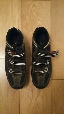 UK Size 7 Specialised Spd Cycle Shoes In Black Leather • 5.99£
