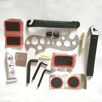 Bike Tyre Tube Bicycle Puncture Patches, Repair Tool Kit Cycle Puncher • 4.99£