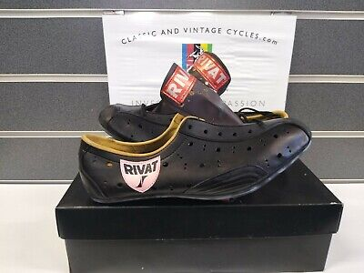 NOS Vintage Leather Pro Cycling Shoes 1970-80's Size 40 Eroica Ready New In Box • 60£