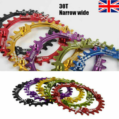 SNAIL 30t 104bcd Aluminum Alloy Cycling Round Narrow Wide Single Tooth Chainring • 12.99£