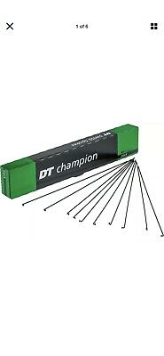 DT Swiss Champion Black, 6 Spokes And Silver Nipples. Size 260 Mm • 4.99£
