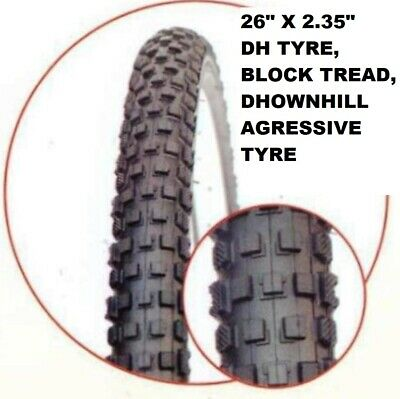 26  X 2.35  Mountain Bike Bicycle Tyre, OFFROAD High Quality, 2.35  Tread !!   • 12.95£