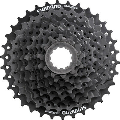 9 Speed Cassette Shimano HG201 All Sizes Bicycle Rear Gears Sprocket Cogs • 20.99£