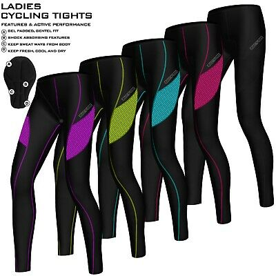 Ladies Cycling Tights Padded Compression Leggings Cycle Womens Tights / Trousers • 16.99£