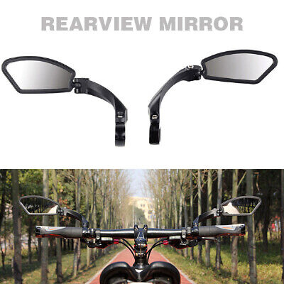 Bicycle Bike Cycling  Handlebar Rear View Rearview Mirror Rectangle Back UK New • 12.80£