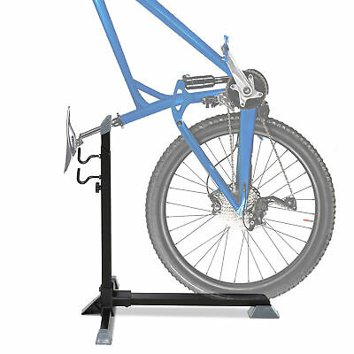 HOMCOM 74cm Adjustable Metal Bike Rack Home Cycle Storage Stand W/ Safety Strap • 18.99£