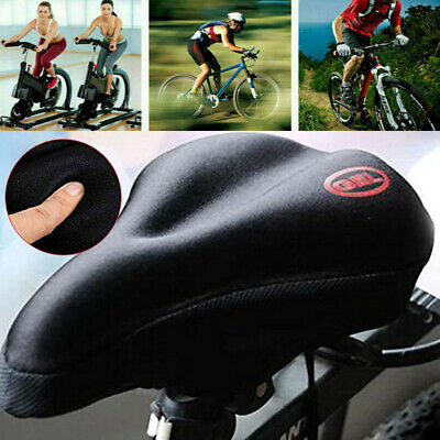BIKE BICYCLE CYCLE EXTRA COMFORT GEL PAD CUSHION COVER FOR SADDLE SEAT COMFY Tc • 3.82£