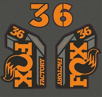 Fox 36 Factory 2021 FORK Stickers Decals Graphics Mountain Bike 2020 Orange • 11.99£