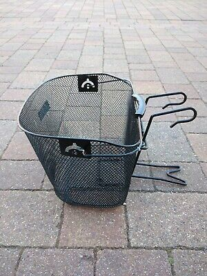 Bike Basket Wire Mesh Bicycle Front Handlebar Storage Removeable • 10£