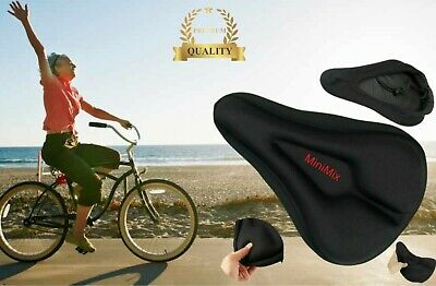 Bike Bicycle Cycle Extra Comfort Gel Pad Cushion Cover For Saddle Seat Comfy • 6.99£