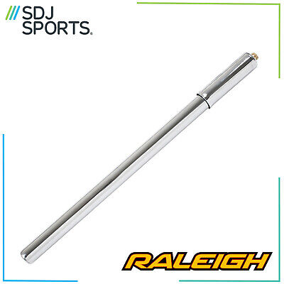 Raleigh 16  Steel Silver Bicycle Bike Pump Fits Schrader And Presta Valves • 9.99£
