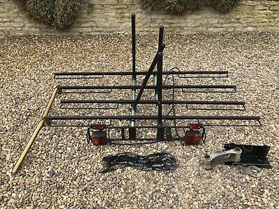 Pendle Bike Rack Tow Bar Mounted 2 Or 4 Cycle Rack With Mounting Block • 120£
