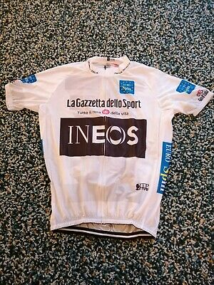 Team Ineos 2020 Cycling Jersey 42 Chest White Giro Edition • 22.99£