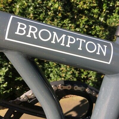 Brompton Decal - White - Stickers For Brompton Bikes • 6.99£