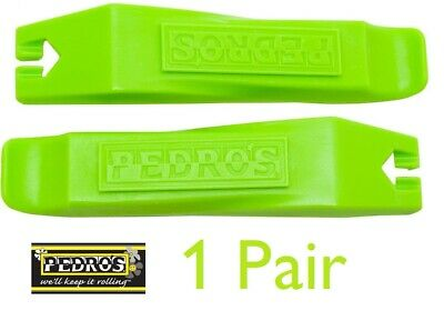 Pedro`s Tyre Levers Bicycle Maintenance 2 Levers (Pair) - LIME GREEN • 5.99£