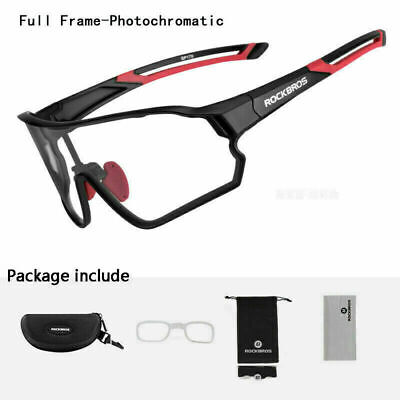 Rockbros Photochromic Glasses Riding Goggles Outdoor Protective Sunglasses UV400 • 19.99£
