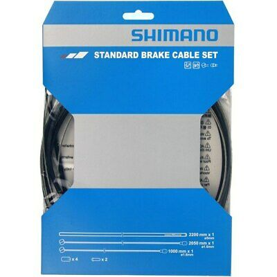 Shimano Brake Cable Set For Standard Road Or Mountain Bike Black • 8.99£