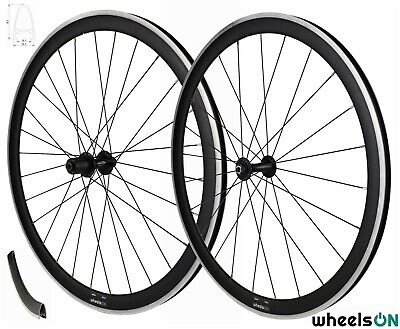 700c WheelsON Road Racing Wheel Set Front And Rear 40 Mm Deep 8/9/10 Speed Black • 98.88£