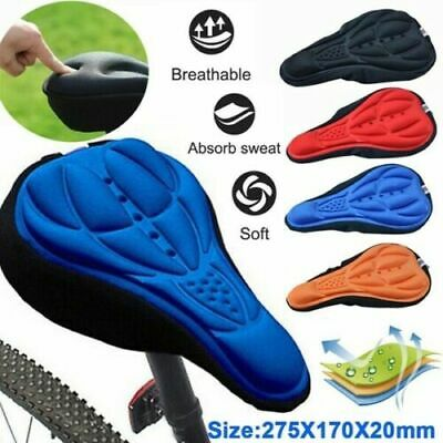 Bike Bicycle Silicone 3D Gel Saddle Seat Cover Pad Padded Soft Cushion Comfort A • 3.69£