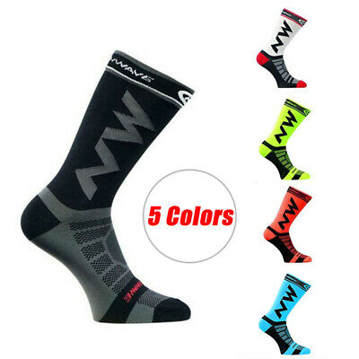 Professional Sport Cycling Socks Protect  Breathable Wicking Unisex Multicoloreb • 2.97£