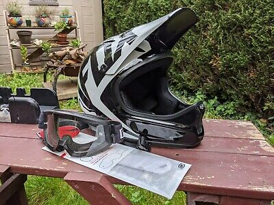FOX Rampage Full Face DH/Freeridehelmet, Size Small, Including 100% Goggles • 0.99£