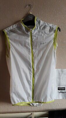 Craft Cycling Gilet, White With Flouro Yellow Detail, Vents And Mesh Back, XL • 15£