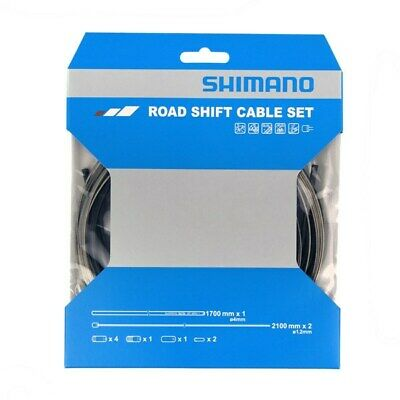 Shimano Road Gear Cable Set Stainless Steel Inner Wire Black • 11.99£