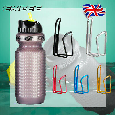 Plastic PP5 Bicycle Leakproof Water Bottles With Aluminum Water Bottle Holders • 22.18£
